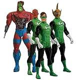 GREEN LANTERN 4 Figure box set includes battle-damaged Manhunter, Hal Jordan, Tomar Re, Ab...
