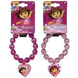 WeGlow International Dora The Explorer Faceted Beaded Bracelet With Charm (Set Of 3)