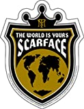 Licenses Products Scarface World Crest Sticker