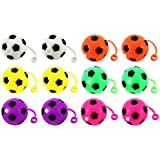 Set Of 12 Light Up LED Soccer Ball Childrens Kids Toy Yoyo Ball (Colors May Vary)