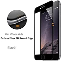 D-kandy - New Curved Edge 3D Fiber Full Body Screen Tempered Glass Screen Protector For IPhone 6S / 6 - BLACK