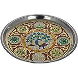 Crafts Creator Steel Decorative Plate (22 Cm X 22 Cm X 2 Cm, CC_24)