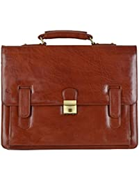 SGH 6 Liters Brown Briefcases