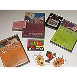 Amazing Easy To Learn Magic Tricks: Coin Magic Dvd, Pro Brand Bridge Size Svengali Deck With Dvd, Magic Thumbtip...