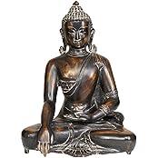 "Aapnocraft 11.5"" Buddha Buddha Statue Brass Buddha Statue With Antique Finished Ancient Buddhist Figurine Religious..."