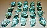 2pc Aqua Blue Optical Obsidian Free-form Large Premium Quality From Peru Irregular Shaped Healing Crystal Tumbled & Polished Gemstone Stone