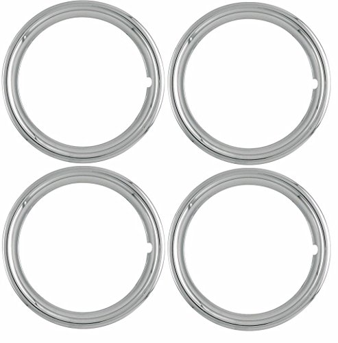 OxGord 17″ Inch Beauty Trim Rings 1 ¾ Depth, Set of 4 Pack for Auto Steel Wheel Rim Edge Bands, OEM Genuine Factory Aftermarket Replacement, ABS Triple 3X Chrome Plated – Easy Snap On