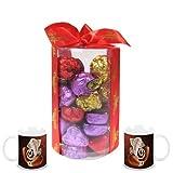 Chocholik's New Luxury Round Chocolate Box With Diwali Special Coffee Mugs - Gifts For Diwali