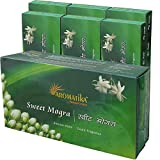 Aromatika® Sweet Mogra Incense Sticks (Agarbatti) Jumbo Pack Of 6 (Six) Boxes