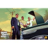 GTA - Grand Theft Auto V (B) Game Poster - 12x19 Inch Art Material