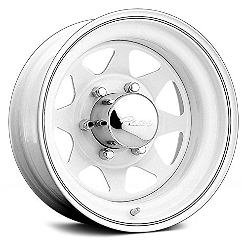Pacer White Spoke 15×6 White Wheel / Rim 5×4.5 with a -3mm Offset and a 83.82 Hub Bore. Partnumber 310W-5612