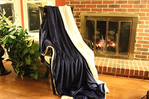 Dark Navy Blue Winter Night Micro Fleece Throw Blanket
