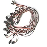 300mm 30cm Servo Extension Lead Cord Wire Jr Plug For Jr Futaba Pack Of 10pcs