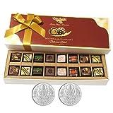 Chocholik Belgium Chocolates - 16pc Magical Treat Of Pralines Chocolate Box With 5gm X 2 Pure Silver Coins - Diwali...