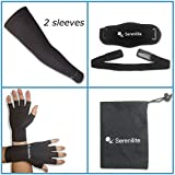 Serenilite Compression Bundle - Includes Compression Arm Sleeves(1 Pair), Copper Compression Gloves(1 Pair), &...