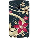 For Samsung Galaxy S3 Mini I8190 :: Samsung I8190 Galaxy S III Mini :: Samsung I8190N Galaxy S III Mini Pink Flower ( Pink Flower, Cream Flower, Black Blackground ) Printed Designer Back Case Cover By FashionCops