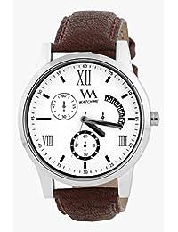 Watch Me White Men Genuine Leather Swiss Wrist Watch Watch Me-0060-Wx