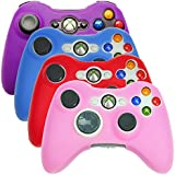 Hde Xbox 360 Controller Skin 4 Pack Combo Silicone Rubber Protective Grip Case Cover For Microsoft Xbox 360 Wireless...