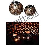Crafticia Craft Traditional Rajasthani Decorative Iron Handicraft Metal Circular Tealight Candle Holder Bucket... - B01LWARD2V