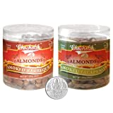 Chocholik Dry Fruits - Almonds Smoked Barbeque And Smoked Jalapeni With 5gm Pure Silver Coin - Diwali Gifts -...