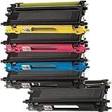 1 Pack + 1 Black Of Total 5 Inktoneram Replacement Toner Cartridges For Brother TN115 BK/C/M/Y Toner Cartridges...