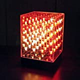 Hi-Tec Art Cube, 3D 64 RGB LED 4x4x4 Cube Useful for Creating Colorful Design, LED Lighting Show, Creative Birthday Christmas New Year Gift