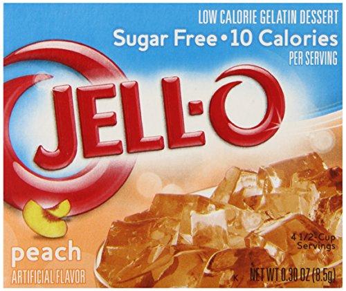 Jell-O Sugar-Free Gelatin Dessert, Peach, 0.30-Ounce Boxes, (Pack of 6)