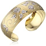 14k Yellow Gold-Filled Hand Engraved Cuff Bracelet