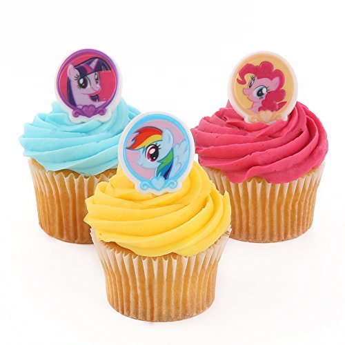 My Little Pony Officially Licensed 24 Cupcake Topper Rings