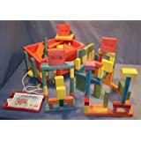 Wooden Toy Wagon - 4-Tier Wooden Wagon - W/(100) Building Blocks