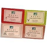 Khadi Mauri Jasmine Khas Rose Sandal Soaps Pack Of 4 Herbal Ayurvedic Natural