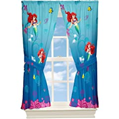 Disney Little Mermaid Curtains Panels Drapes Set of 2