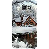 For Samsung Galaxy On7 (2016) Beautiful Home ( Beautiful Home, Ice, River, Ice Home, Tree, Beautiful Ice, Winter ) Printed Designer Back Case Cover By FashionCops