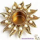 Ghasitaram Gifts Diwali Gifts - Golden T- Lite Holder With 200 Gms Kaju Katli