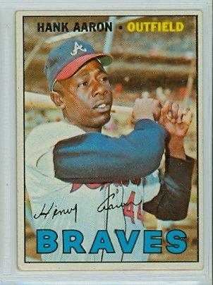 Amazon.com: 1967 Topps Baseball 250 Hank Aaron Very Good
