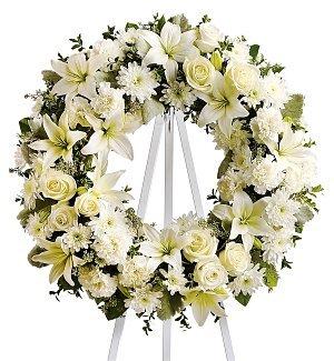 Funeral Flowers - Serenity Wreath