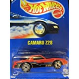 Camaro Z-28 1992 Hot Wheels #33 Red With Silver Ultra Hot Wheels On Solid Blue Card
