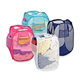 40*40*70 Size Foldable Laundry Bag for Washing Clothes Storage - Popup mesh - Bathroom Bin Portable Basket With Pockets for Washing powder liquid bottle