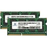 Adamanta 8GB 2x4GB Laptop Memory Upgrade DDR3L 1600Mhz PC3-12800 SODIMM 2Rx8 CL11 1.35v Notebook RAM