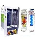 Fruit Infuser Water Bottle-Water Bottle Infusers, 2 Pack, 32oz