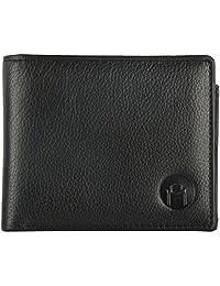 MOSPL Men's Leather Wallet (Black) - B01ERIMA76