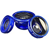 COON 3 In 1 Clip-on Cell Phone Camera Lens Kit 180 Degree Fisheye +0.67X Wide Angle + 10 X Macro Lens For IPhone...