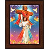 Avercart Jesus Christ / Cross / I Asked Jesus How Much Do You Love Me / Christian Poster 5x7 Inch With Photo Frame...