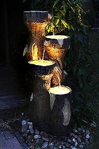 """Gartenbrunnen """"Baumstamm"""" 120 cm mit LED Beleuchtung"""