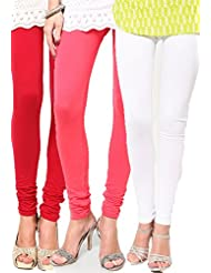 Castle Women's Leggings (Pack Of 3) (Multi_Free Size) - B00RBN5OFK