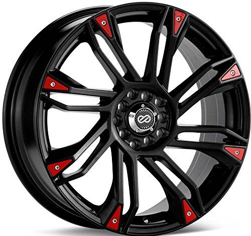 18×7.5 Enkei GW8 (Matte Black) Wheels/Rims 4×100/114.3 (448-875-0142BK)