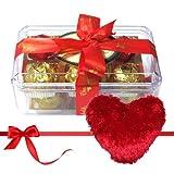 Valentine Chocholik's Luxury Chocolates - Savory Treat Of Yummy Chocolates With Heart Pillow