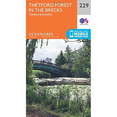 OS Explorer Map (229) Thetford Forest in the Brecks Ordnance Survey
