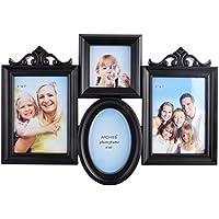 Archie Plastic And Glass Family Photo Frame (48 Cm X 33 Cm X 4 Cm, Black, 377-FFB)