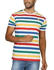 Paani Puri Men's Round Neck Cotton Blended T-Shirt (Royal Blue)